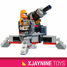 LEGO STAR WARS Republic Heavy Anti Vehicle Cannon + Orange Squad Clone Trooper