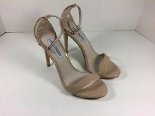 Steve Madden Stecy Nude Patent Women's Size 6 M Ankle Strap Heel Sandal
