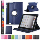 360° Rotating Leather Case Smart Cover Swivel Stand For Apple iPad 2 3 4 Pro