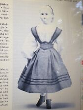 "ANTIQUE  ROHMER  HURET CHINA 16"" DOLL BRETELLE DRESS CAPE UNDIES SHOES PATTERN"