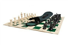 Quiver Chess Set Combo - Triple Weighted Regulation Pieces | Vinyl Chess Board |