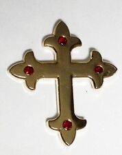 Metal Enamel Pin Badge Brooch Cross Gothic Goth Emo Cross Gold