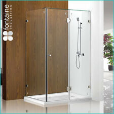 Frameless Shower Screen 1200 Panels Tough 10mm Safety Glass AU Standard Base
