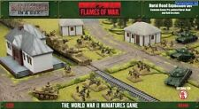 Conjunto de expansión de carretera rural-llamas de la guerra