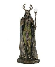 "10.75"" Elen Of The Ways - Antlered Goddess Of Forrest Statue Sculpture Figure"