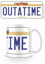 BACK TO FUTURE OUTATIME LICENSE PLATE MUG NEW GIFT BOXED OFFICIAL MERCHANDISE