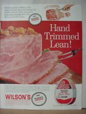 1961 Wilson's Certified Meat Ham Canned Food Vintage Print Ad 10302