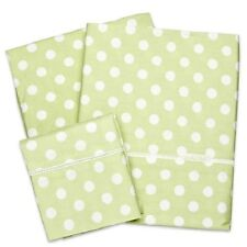 Brand New Bubba Blue Polka Dots Lime Cot Sheet Set  Baby Girl Fits  Boori