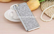 Silver Luxury Bling Rhinestone Shockproof Hard Back Case Cover for iPhone 7 S002
