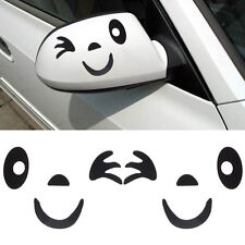 Car Decal Smile Face Pattern 3D Decoration Sticker For Car Side Mirror Rearview