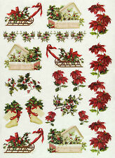 Ricepaper/ Decoupage paper, Scrapbooking Sheets /Craft Paper Bright Christmas