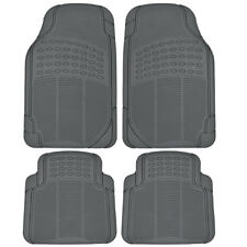 Auto Floor Mats 4PC Liners - Gray All Season Protection HD Rubber Front & Rear
