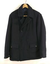 Mens Nautica Double Breasted Wool Blend Peacoat - Small
