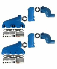 """Barr Manifold Exhaust Kit for Crusader Small Block GM End Style w/ 8"""" Risers"""