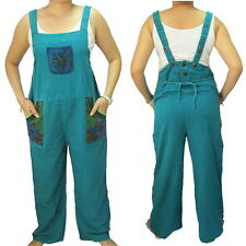 New Boho Hippie Sleeveless 3-pocket Tie Back Bib Cotton Jumpsuit  PE299