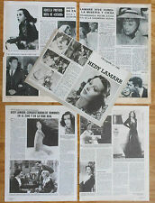 HEDY LAMARR spanish clippings 1970s/80s photos vintage magazine film actress