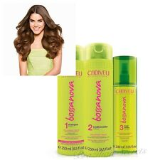 CADIVEU BOSSA NOVA CURLS SHAMPOO CONDITIONER LEAVE-IN BEACH WAVES HAIR SPRAY SET