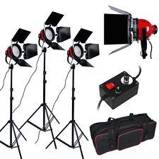 2400W Red Head Lumière Continue Kit éclairage Studio Vidéo 3 supports 3 ampoules