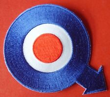 Mod Quadrophenia Q Blue, White And Red Embroidered Patch
