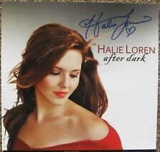 Signed HALIE LOREN Album POSTER In-Person w/proof After Dark Autograph