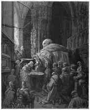 Gustave Dore gigantón Pantagruel 056 A4 Foto impresión
