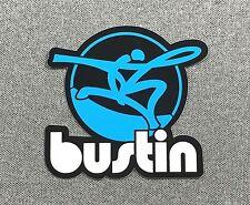 Bustin Longboards Skateboard Sticker 3.2in si