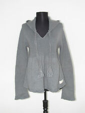 ODD MOLLY Women's Stunning Grey Hooded Sweater Jumper Size: 3