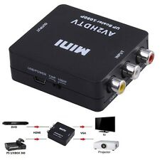 Mini Composite AV CVBS 3RCA to HDMI Video Converter Adapter 720p 1080p Black FT