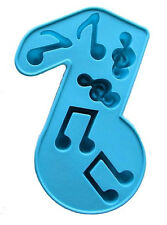 Musical Notes 6 Cavity Ice Cube Silicone Mold