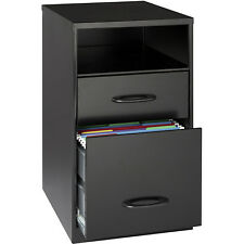 New Home Furniture Office Black 2 Drawer File Cabinet Filing Cabinets with Shelf
