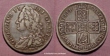 1746 KING GEORGE II HALFCROWN (LIMA) - D NONO