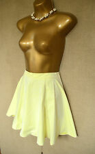TOPSHOP Pastel yellow summery cord effect skater skirt 6