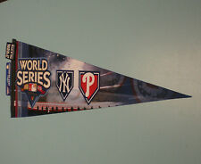 2009 WORLD SERIES YANKEES PHILLIES DUELING FELT PENNANT