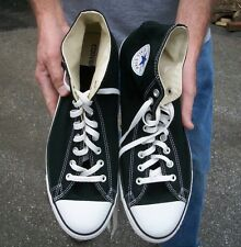 Converse Chuck Taylor All Star High Top Black Canvas Shoes Size 15
