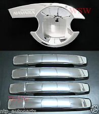 Chrome Handle+Insert Cover for NISSAN NAVARA D40 05-14 UTE STR STX ST 06 07 08