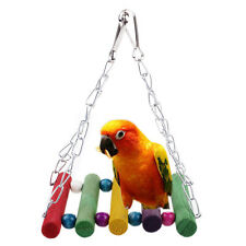 New Colorful Parrot Swing Bird Toy Wooden Rat Mouse Hamster Hanging Hammock Toys