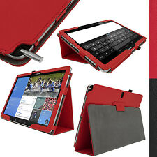 Rosso EcoPelle Custodia Case Cover per Samsung Galaxy Note Pro 12.2 SM-P900 P905