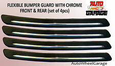 Bumper Protection Flexible Guard for Mahindra KUV100-Chrome inserts-set of 4