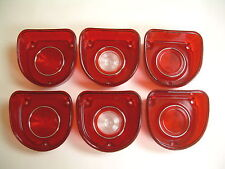 1968 Impala Tail Light Lens Back Up Light Lens Set of 6 with Gaskets
