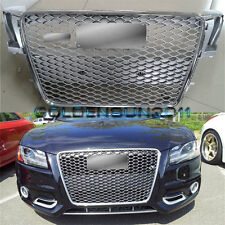 RS5 Front Sportback Sline Euro Gunmetal Grille For Audi A5 S5 8T SFG 2008-2012