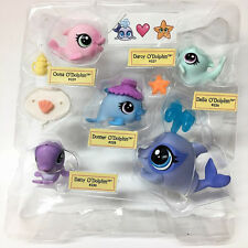 Littlest Pet Shop LPS Mommy & babies O'Dolphin Family  #226-#230 Toy EA119