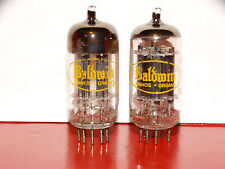 2 x 12AX7A Raytheon-Baldwin Tubes*Long Black Plates*O getter*Matched*#4