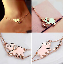 Hot Chic Elephant Multi Chain Ankle Anklet Bracelet Barefoot Sandal Foot Jewelry