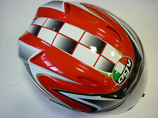 CASCO AGV AIRTECH TRIBUTE ROSSO NERO BIANCO TG XS MOTORCYCLE HELMET CASQUE HELM