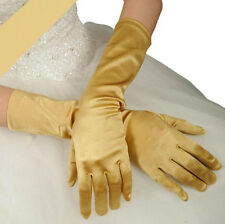 Women Satin Long Gloves Opera Wedding Bridal Evening Party Costume Gloves