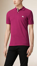 burberry mens raspberry sorbet nova check short sleeve polo shirt  t-shirt small