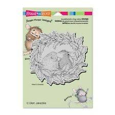 HOUSE MOUSE RUBBER STAMPS CLING WREATH KISS STAMP NEW 2015