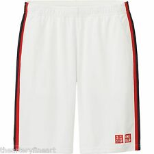 UNIQLO x Novak Djokovic 2015 U.S. Open Tennis Shorts MEDIUM Dry-Ex White **NWT**