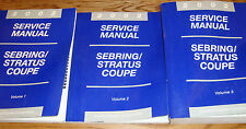 2002 Chrysler Sebring Dodge Stratus Coupe Shop Service Manual Vol 1 2 3 Set 02