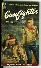 GUNFIGHTER by Paul Craig, rare US Eton Book pulp western vintage pb NAPPI cover